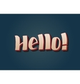 Hello - hand drawn lettering vector image vector image