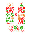 holiday quotes happy new year and merry christmas vector image vector image