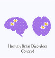 human brain filled with puzzle pattern vector image