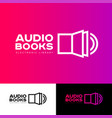 icon library audio book logo vector image vector image