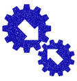 integration gears icon grunge watermark vector image vector image