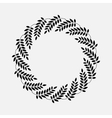 Laurel wreath cicle tattoo Black stylized vector image vector image