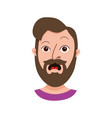 Male hipster cartoon character vector image
