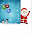 merry christmas background 1 vector image vector image