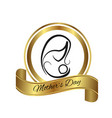 mother symbol logo emblem icon vector image vector image
