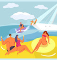 party at yacht people in cruise vector image vector image
