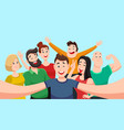 people group selfie friendly guy makes group vector image vector image