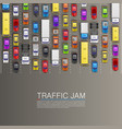 raffic jam on the road vector image vector image