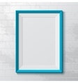 Realistic blue frame vector image vector image