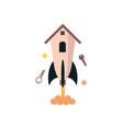 rocket house vector image vector image