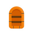 rubber boat icon flat style vector image vector image
