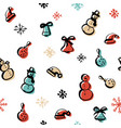 scandinavian seamless pattern of christmas vector image vector image