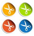 scissors stickers vector image vector image