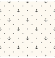seamless retro pattern with anchors vector image vector image