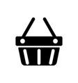 shopping basket icon cart vector image