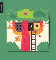 simple things - tree house vector image vector image