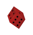 single dice icon vector image