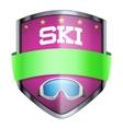 SKI Shield badge vector image