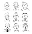 Smiling faces vector image vector image