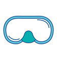 snorkel googles diving isolated icon vector image vector image