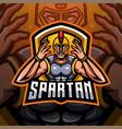 spartan esport mascot logo design vector image vector image