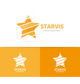 star logo combination leader and vector image