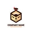 sumo box logo design vector image