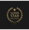 Super star badge vector image vector image