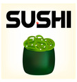 sushi with seaweed vector image vector image