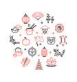 symbol china round design template line icon vector image vector image
