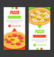 tasty pizza business card template traditional vector image