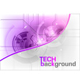 tech background in the purple color vector image vector image