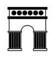 triumph arch isolated icon vector image vector image