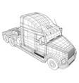 truck oil trailer gasoline tanker created vector image vector image