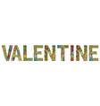 valentine decorative zentangle object vector image vector image