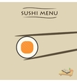 various pieces of Sushi vector image