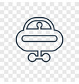 vehicle concept linear icon isolated on vector image vector image