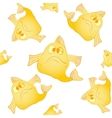 White seamless background The yellow fish vector image