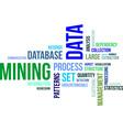 word cloud data mining vector image vector image