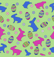 happy easter day pattern background vector image