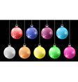 colorful crismass ball set vector image