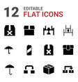 12 packing icons vector image vector image