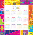 2016 calendar with frame for kids vector image