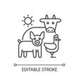 animal husbandry linear icon vector image