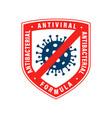 antiviral antibacterial coronavirus formula icon vector image