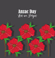 anzac holiday memorial with natural rose vector image