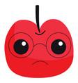 apple nerd on white background vector image