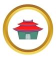 Asian pagoda icon vector image vector image