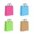 Blank Paper Shopping Bag With Rope Handles Set vector image vector image