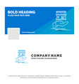 blue business logo template for shop donate vector image